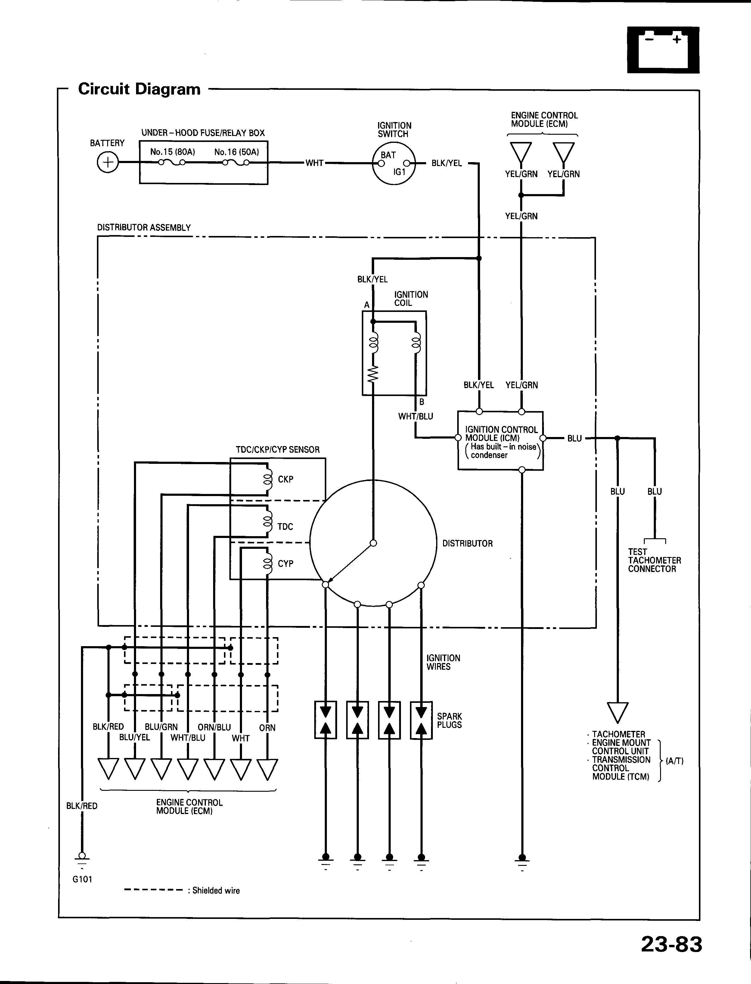 схема блока предохранителей accord 96